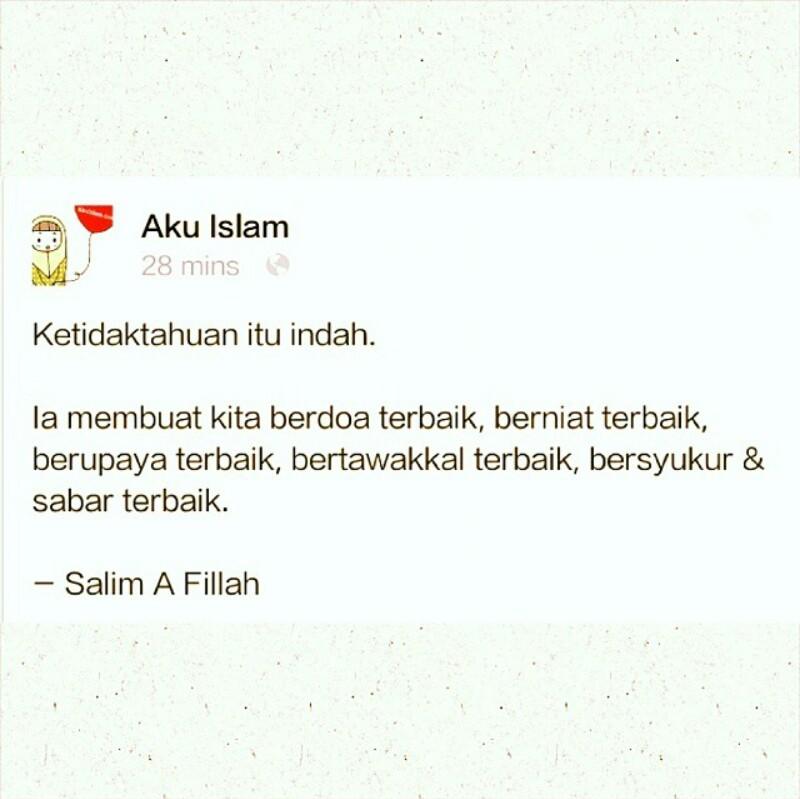 Ketidaktahuan itu indah (Sumber: Instagram @itaroihanah)